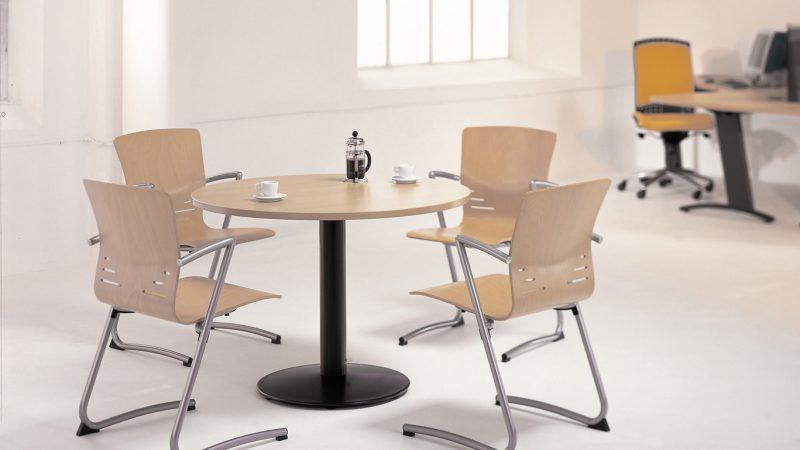 Visual Pedestal Meeting Table